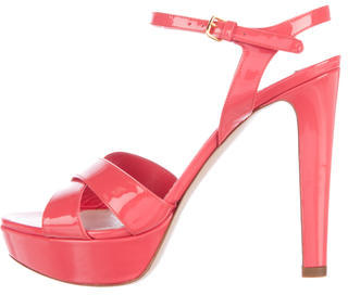 Miu Miu Miu Miu Patent Leather Platform Sandals