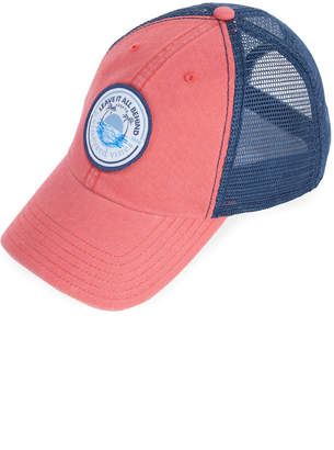 72f998a1bf5 Vineyard Vines Leave It All Behind Patch Low Profile Trucker Hat