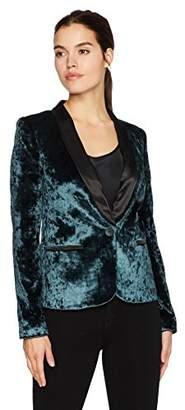 James Jeans Women's Tuxedo Jacket Satin Blazer