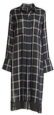 Mother of Pearl Women's Delphine Fringed Plaid Tunic Shirt
