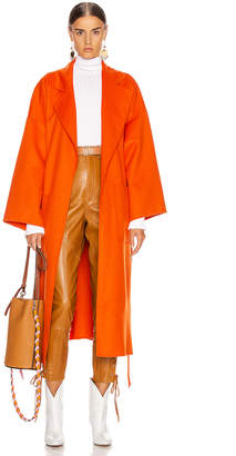 Loewe Oversized Belted Coat in Orange | FWRD