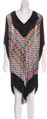 Missoni Mare Fringe-Trimmed Knit Tunic