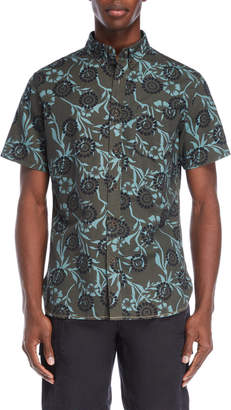 Surfside Supply Flower Batik Short Sleeve Shirt
