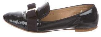 Salvatore Ferragamo Patent Leather Round-Toe Loafers