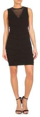 GUESS Mesh Cut-Out Bodycon Dress