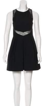 Stella McCartney Mesh-Accented Mini Dress
