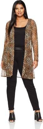 Star Vixen Women's Plus-Size Long Sleeve Lightweight Mesh Open Cardigan