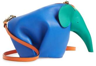 Loewe Mini Elephant Rainbow Calfskin Crossbody Bag