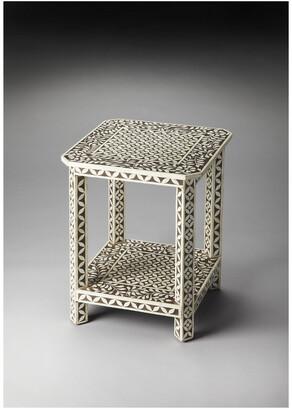Butler Amelia Brown Bone Inlay Side Table