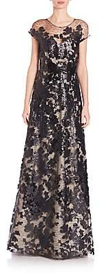 Rene Ruiz Collection Women's Sequined Lace A-Line Gown