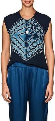 Raquel Allegra Women's Tie-Dyed Silk Sleeveless Top