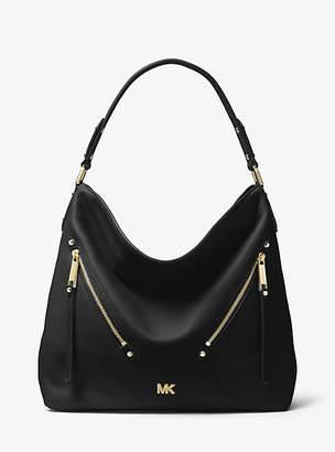 Michael Kors Evie Large Pebbled Leather Shoulder Bag