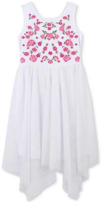 Speechless Embroidered Handkerchief Hem Dress, Toddler Girls