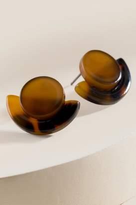 francesca's Dayleigh Tortoise Stud Earrings - Amber
