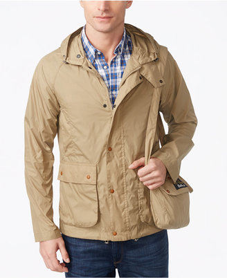 Barbour Men's Croston Packable Waterproof Hooded Jacket $229 thestylecure.com