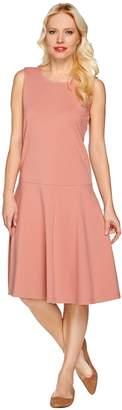 Denim & Co. Perfect Jersey Sleeveless Drop Waist Dress