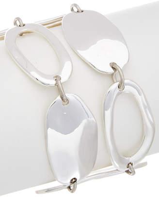 Robert Lee Morris SOHO Soho Golden Abalone Plated Cz Hammered Bracelet