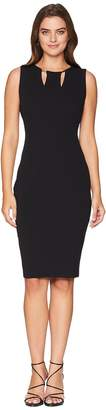 Calvin Klein Sheath Dress with Hardware and Cut Out Detail CD8C16LF Women's Dress