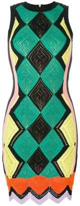 Versace fitted crochet dress