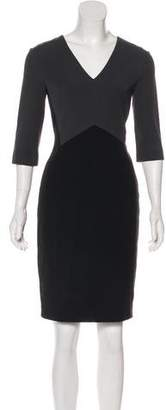 Narciso Rodriguez Long Sleeve Knee-Length Dress