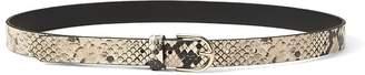 Banana Republic Snake-Effect Leather Trouser Belt
