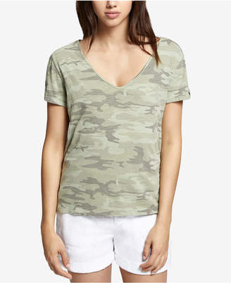 Sanctuary V-Neck Camo-Print T-Shirt