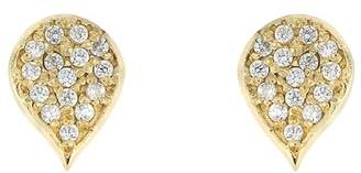 Bony Levy 18K Yellow Gold Diamond Leaf Stud Earrings - 0.12 ctw