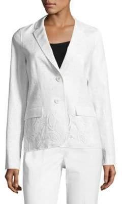 Lafayette 148 New York Vangie Embroidered Linen Blazer