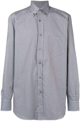 Brioni button-down check shirt