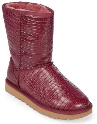 UGG Classic Short Crocodile Embossed Boot