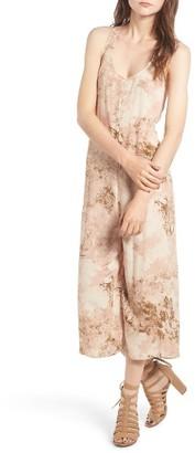 Women's Hinge Print Racerback Culotte Jumpsuit $79 thestylecure.com