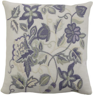 """Sferra Sherry Pillow with Multicolored Embroidery, 21""""Sq."""