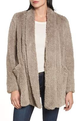 Kenneth Cole New York Teddy Bear Faux Fur Clutch Coat
