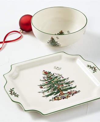 Spode Christmas Tree Bowl and Platter Set
