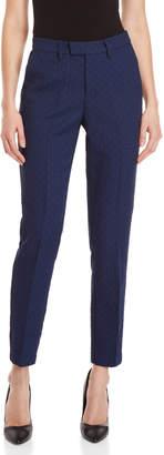 Lucy Paris Navy Jacquard Pants