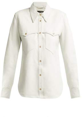 Isabel Marant Nile Leather Shirt - Womens - White