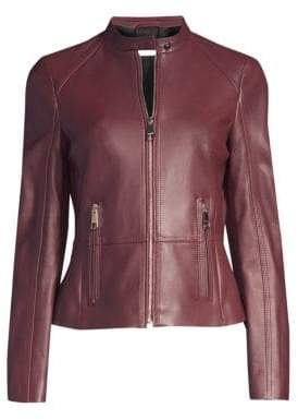 BOSS Slim-Fit Leather Jacket