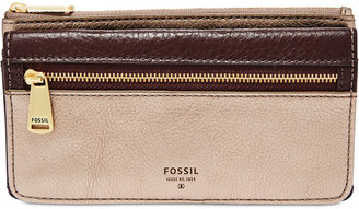 Fossil Preston Leather Flap Clutch Wallet $65 thestylecure.com