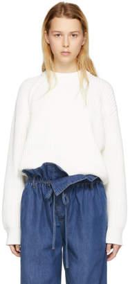 Acne Studios White Penina Chunky Sweater