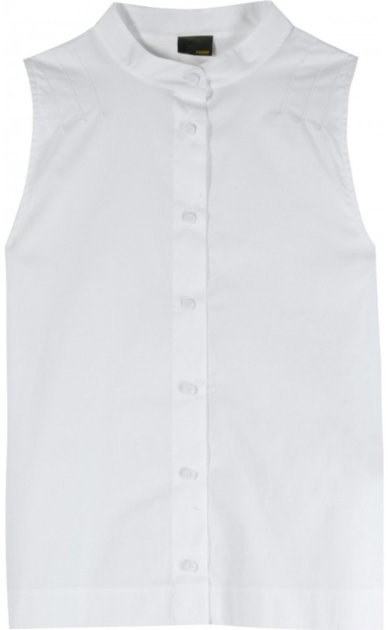 Fendi SLEEVELESS COTTON BLOUSE