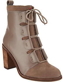 ED Ellen Degeneres Leather & Suede Ankle Boots- Wallee