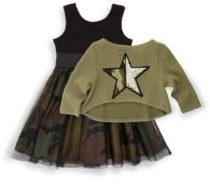 Little Girl's Two-Piece Top & Dress Set