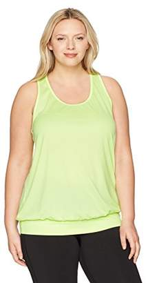 Just My Size Women's Plus Size Active Mesh Banded Tank