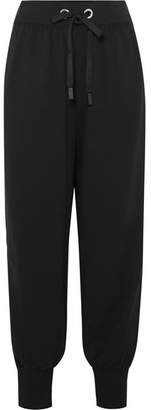 NO KA 'OI NO KA'OI - Ano'e Striped Stretch Cotton-blend Track Pants - Black