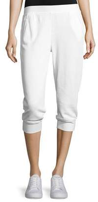 ATM Anthony Thomas Melillo French Terry Capri Sweatpants, White $170 thestylecure.com