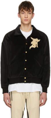 Fear Of God SSENSE Exclusive Black Corduroy Coaches Jacket