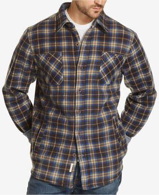 Weatherproof Vintage Men's Plaid Fleece-Lined Shirt Jacket