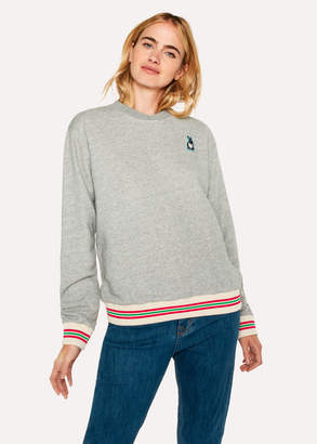 Paul Smith Women's Grey Marl 'Rabbit' Embroidery Cotton Sweatshirt