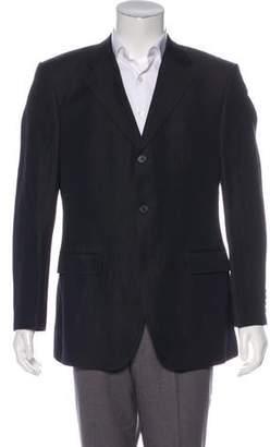 Cerruti Linen-Wool Blend Pinstripe Blazer