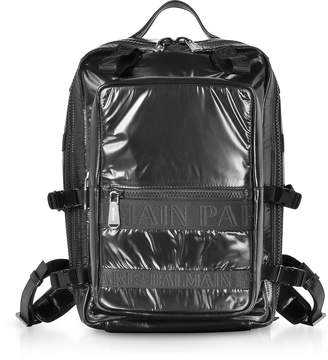Balmain Black Quilted Nylon And Shiny Leather Men's Backpack